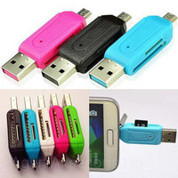 Card Reader OTG 2 Slot for MicroSD / SD OTG / Micro USB