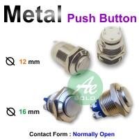Metal Push Button Pushbutton Tombol Tekan Push ON 12mm 16mm 19mm 22mm