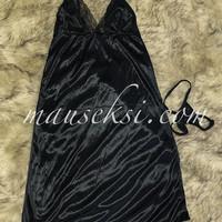 Tris Sexy Lingerie Babydoll + G String Black S-XL Baju Tidur Hitam