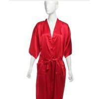 LIVIA Sexy Lingerie Long Kimono + G String Nightdress Red Seserahan