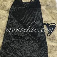 ELSA Sexy Lingerie Babydoll Set + G String Black Baju Tidur Hitam