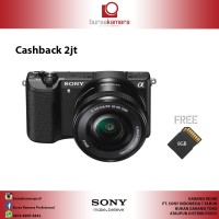 Sony Alpha A5100 Hitam Kamera Mirrorless + Memory SD 8GB