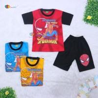 Setelan Pendek Super Hero Uk 5-6 tahun / Kaos Celana Anak Laki Murah
