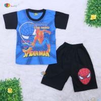 Setelan Pendek Super Hero Uk 3-4 Tahun / Kaos Celana Anak Laki Murah