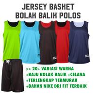 Jersey Setelan Basket Polos - L