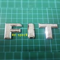 Logo / Emblem Huruf Fit Crystal