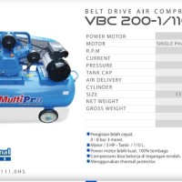 Kompresor MultiPro VBC 200-1-110 HS Belt Drive Air Compressors 2HP