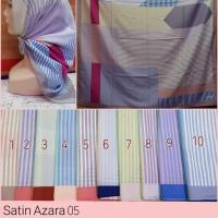 Jilbab Segi Empat Satin Motif Bunga - seri : AZARA 05
