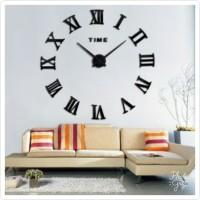 Jam Dinding Besar DIY Desain Angka Romawi 80-130Cm / Giant Wall Clock