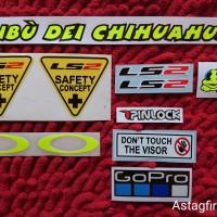 Sticker Set visor LS2   Sticker Visor Ls2