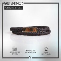GUTENINC - Two Layer Gold Bracelet / Gelang Dua Lapis Warna Emas - Hit