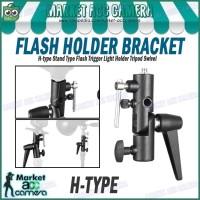 Metal H-Type Swivel Flash Mount/Umbrella Holder/Light Stand Bracket