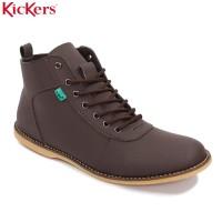 Sepatu Kickers Bandit Brodo Semi Boots Pria Coklat