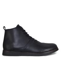 Sepatu Boots Pria Sauqi Brodo Ivory Black Kulit Casual Kerja Kantor