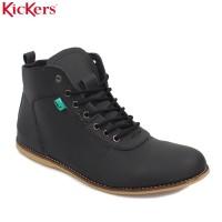 Sepatu Kickers Bandit Brodo Semi Boots Pria Hitam