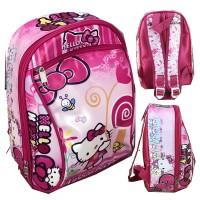 Tas Ransel Sekolah TK Hello Kitty Buncit 3D - Pink