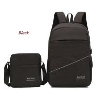 2in1 Backpack Laptop USB Port + Tas Selempang Joy Start - BP04