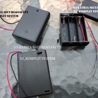 AA x3 Ada tutup Tempat Baterai Battery Holder Batere Kotak batery case