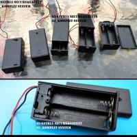 AA x2 Ada tutup Tempat Baterai Battery Holder Batere Kotak batery case