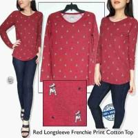 Atasan Blouse Wanita Branded- 12602- 23aa-Design United-merah