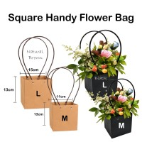 Square Handy Flower Bag L – Bloombox – box bunga - rose - florist