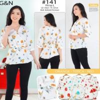 Trend Dan Berkualitas Baju Atasan Blouse Bunga Yellow #141
