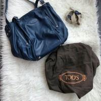Preloved Tas Tods Blue ori (ada kotor di bagian dalam tas)