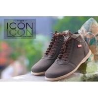 Sepatu Pria Icon Brodo Gwen Brown Formal Casual Kerja Kantor