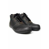Sepatu Pria Black Master New Brodo Black Boots Tracking Hiking Kerja