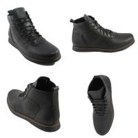 Sepatu Pria Bradley'S Brodo Black Boots Kulit Asli Tracking Hiking