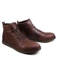 Sepatu Sauqi Brodo Batik Casual Boots Kerja Kulit Pu Sepatu Pria