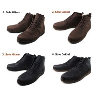 Sepatu Sauqi Brodo Boots 100% Kulit Asli Tampil Jantan Di Kantor