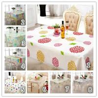 Taplak meja anti air alas meja makan bermotif bahan peva