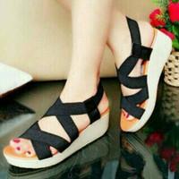 Sandal wedges wanita karet SDA-071