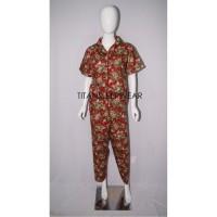 Setelan Piyama Katun Jepang Celana Panjang Wanita Dewasa Murah AN 247
