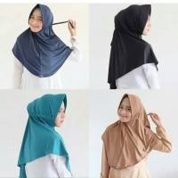 Hijab Kerudung Jilbab Instan Serut Bahan Jersy