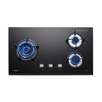 Built-in Gas Hob Kompor Gas Tanam 3 Tungku Rinnai RB-73TG