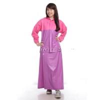 Jas Hujan Setelan Wanita / Mantel Raincoat Jaket Rok Pink Ungu