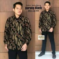 BATIK PRIA PARANG HITAM Hem Batik Kencana Atasan pria batik modern