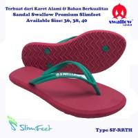 Sandal Swallow Premium SlimFeet Wanita RubyRed – Tali Hijau