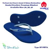 Sandal Swallow Premium Sllimfeet Wanita NavyBlue - Tali Abu