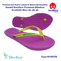 Sandal Swallow Premium SlimFeet Wanita HotPink - Tali Kuning