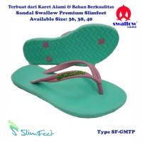 Sandal Swallow Premium SlimFeet Wanita GreenMint – Tali Pink