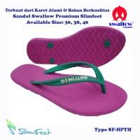 Sandal Swallow Premium SlimFeet Wanita HotPink - Tali Hijau