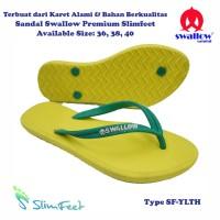 Sandal Swallow Premium SlimFeet Wanita YellowLemon – Tali Hijau