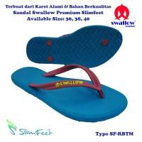 Sandal Swallow Premium SlimFeet Wanita RoyalBlue – Tali Merah