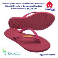 Sandal Swallow Premium Slimfeet Wanita RubyRed Tali Merah