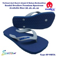Sandal Swallow Premium Spectrum Pria NavyBlue - Tali Abu