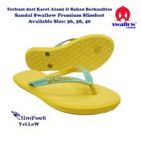 Sandal Swallow Premium SlimFeet Wanita - Kuning