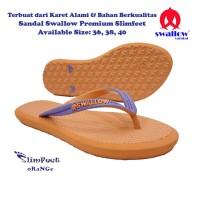 Sandal Swallow Premium SlimFeet Wanita - Orange